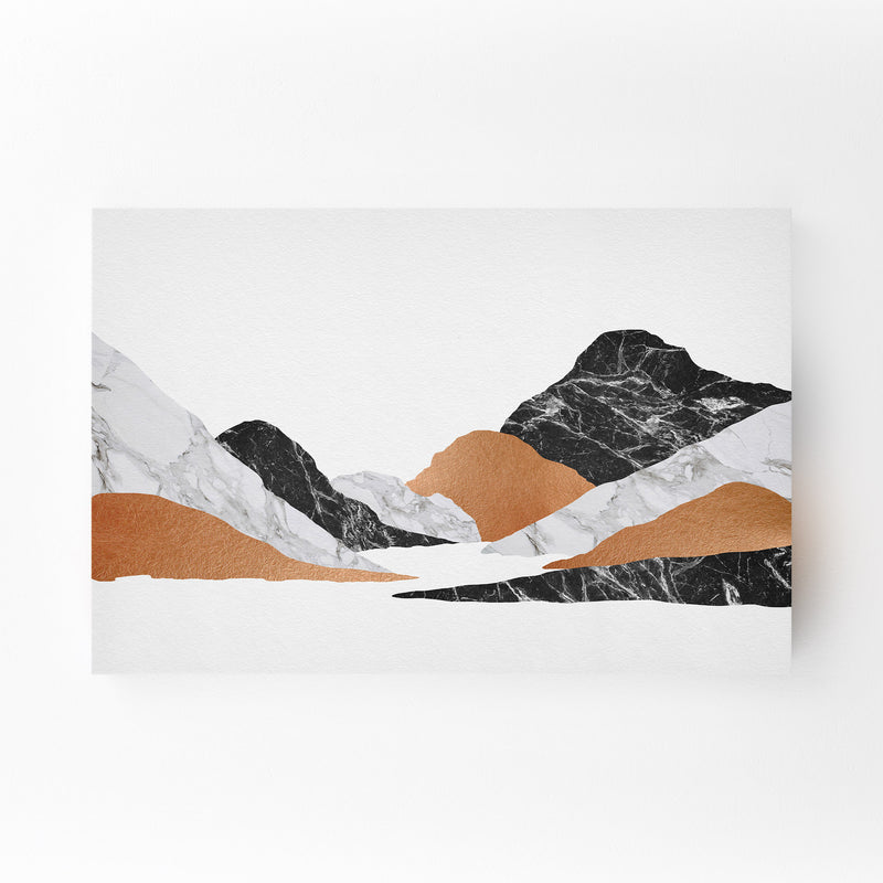 Abstract Marble Mountain Nature Mounted Art Print
