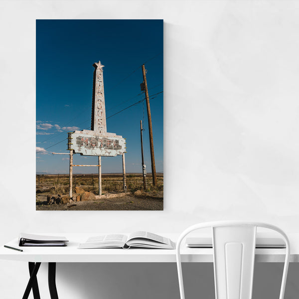 Abandoned Motel Marfa Texas Art Print