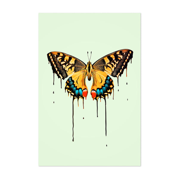 Melting Butterfly Graphic Animal Art Print