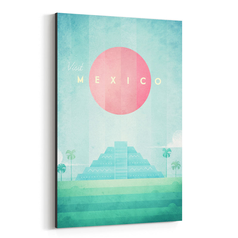 Minimal Travel Poster Mexico Canvas Art Print