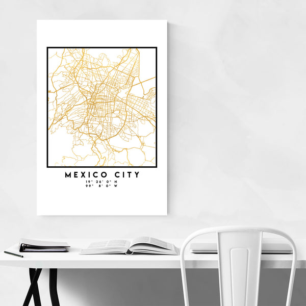 Minimal Mexico City City Map Art Print