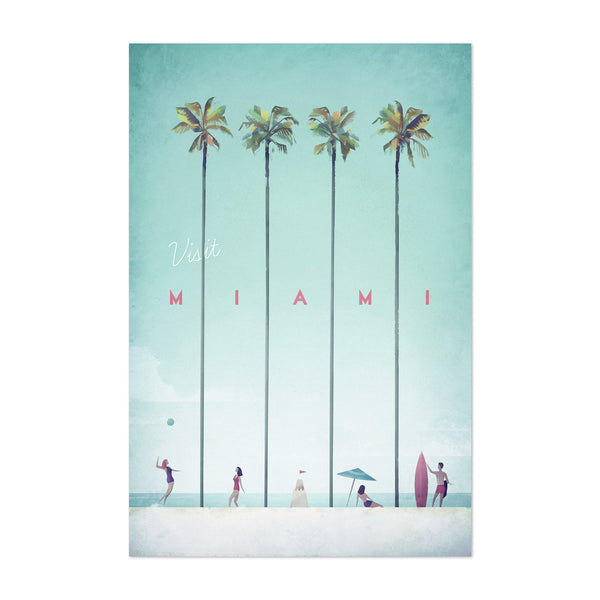 Minimal Travel Poster Miami Art Print