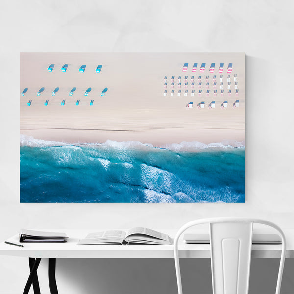 Miami Beach Aerial Coastal Ocean Art Print
