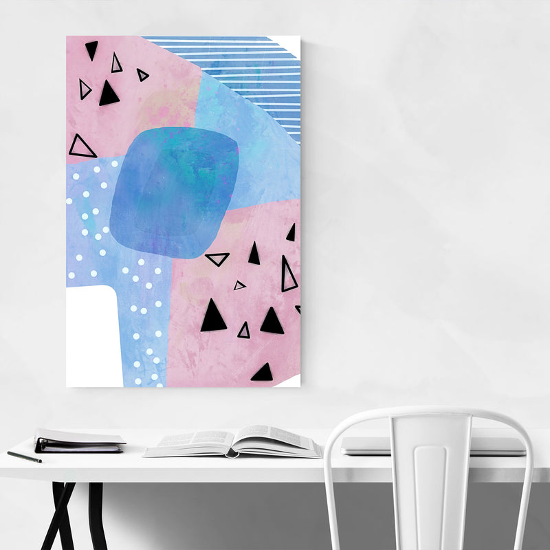 Abstract Geometric Shapes  Metal Art Print