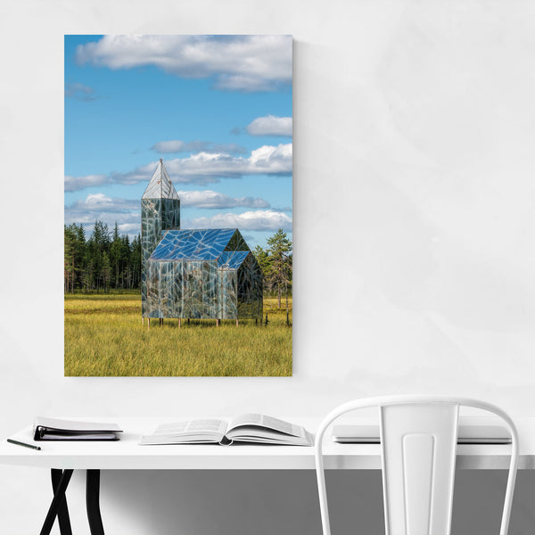 Church Rural Sweden Architecture Art Print