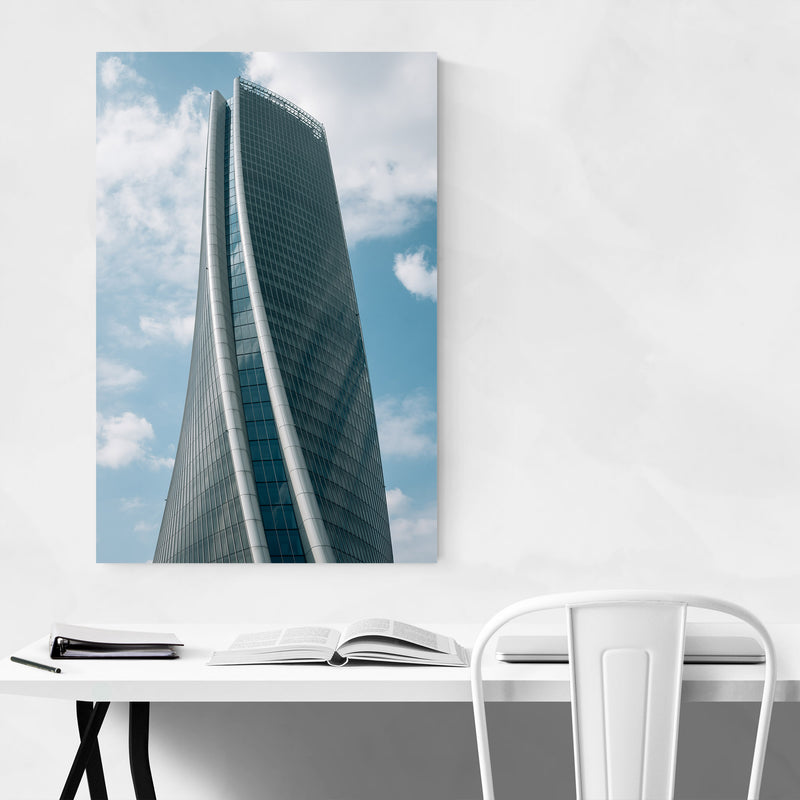 Modern Architecture Milan Italy Print Canvas Metal Framed