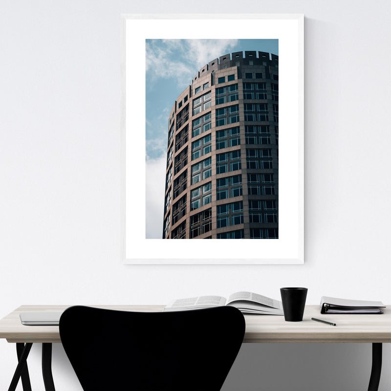 Boston Modern Architecture Framed Art Print