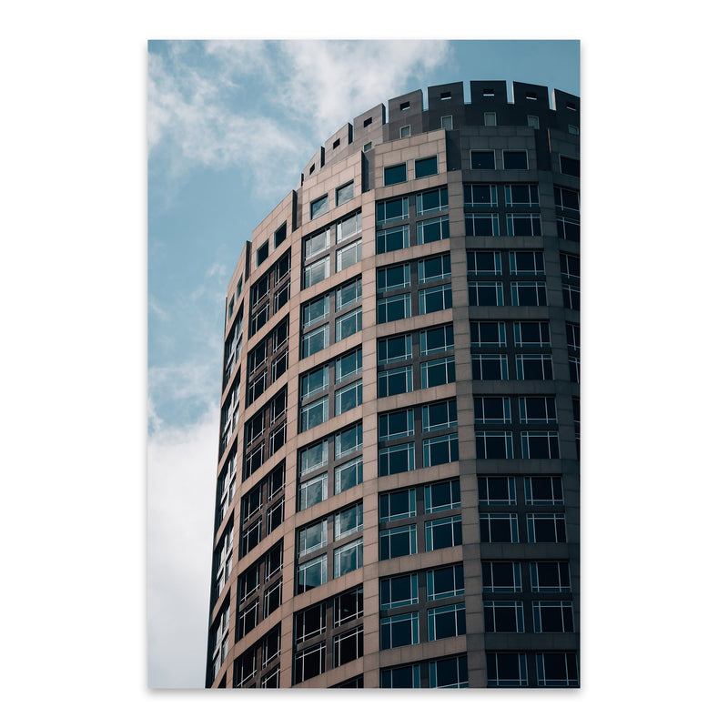 Boston Modern Architecture Metal Art Print