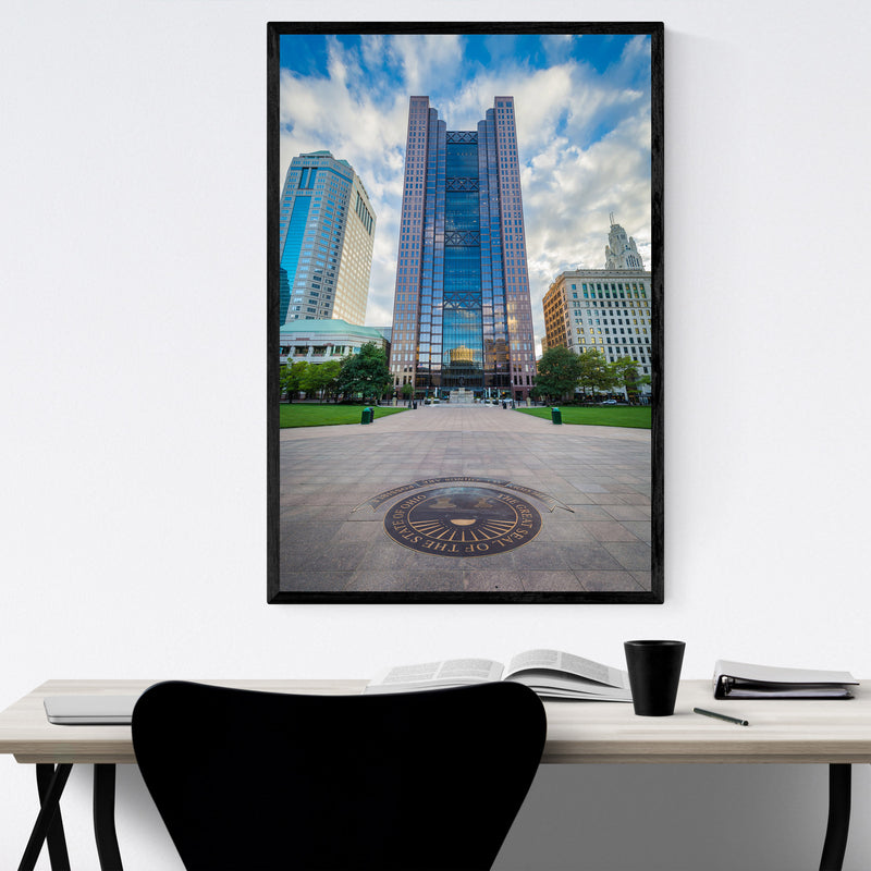 Columbus, Ohio Downtown Framed Art Print