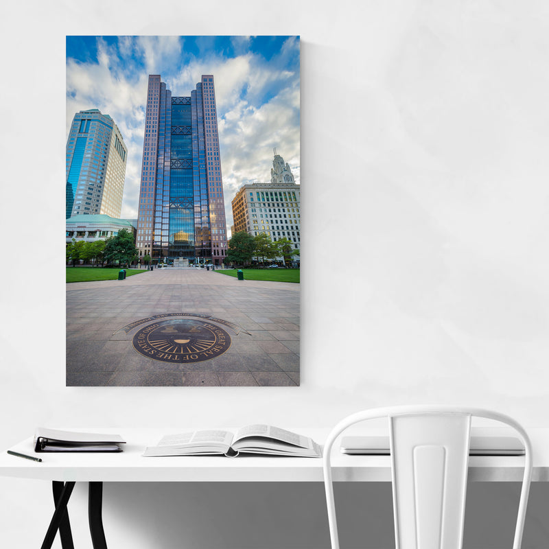 Columbus, Ohio Downtown Metal Art Print