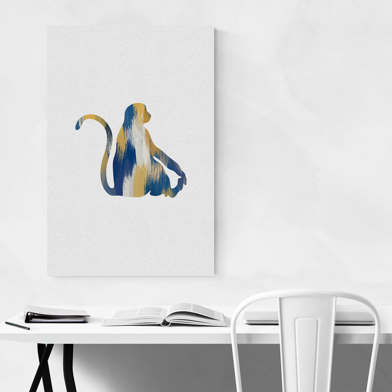 Abstract Monkey Cute Animals Metal Art Print