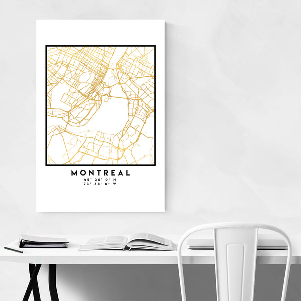 Minimal Montreal City Map Art Print