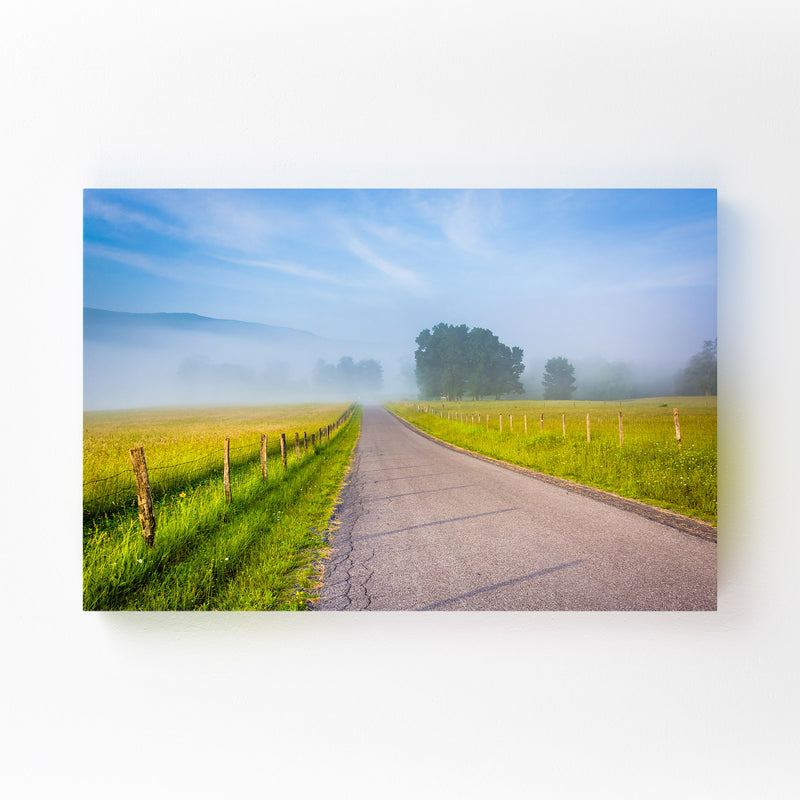 Country Farm Rural Road WV Mounted Art Print