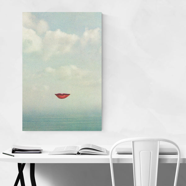 Abstract Sky Clouds Lips Fashion Art Print