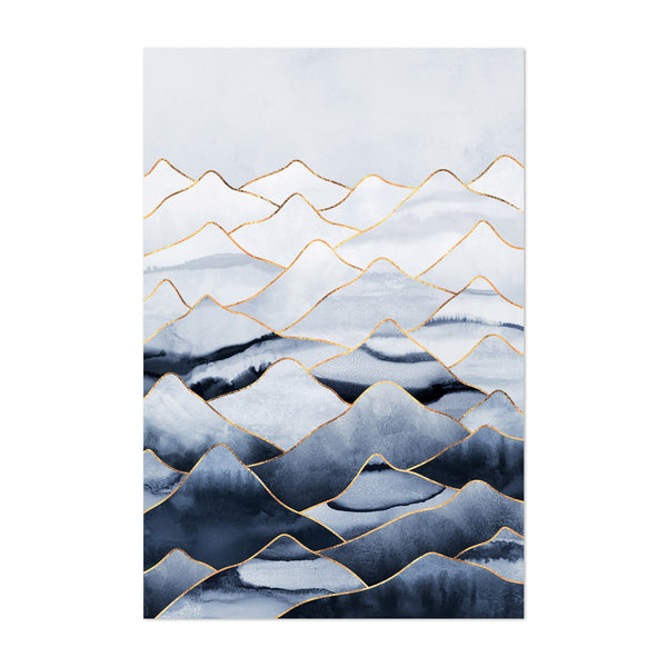 Mountains Art Deco Abstract Art Print