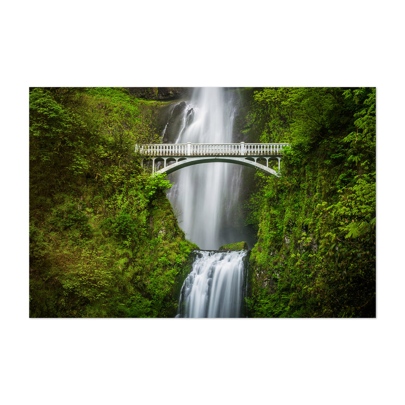 Multnomah Falls Bridge Oregon Art Print