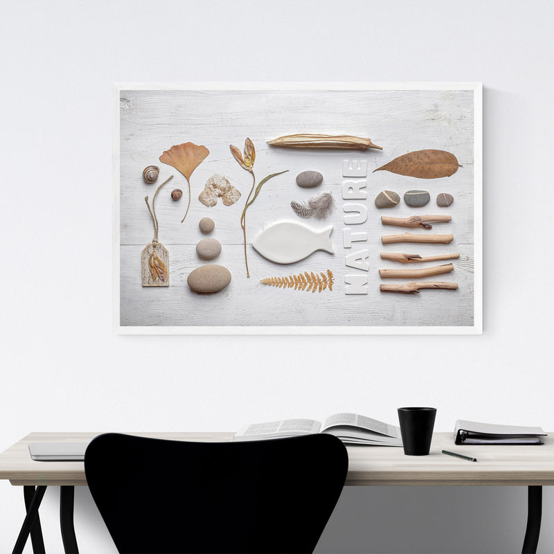 Autumn Fall Nature Collage Framed Art Print