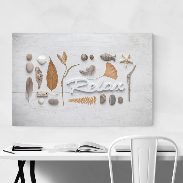 Relax Beach Nature Collage Art Print