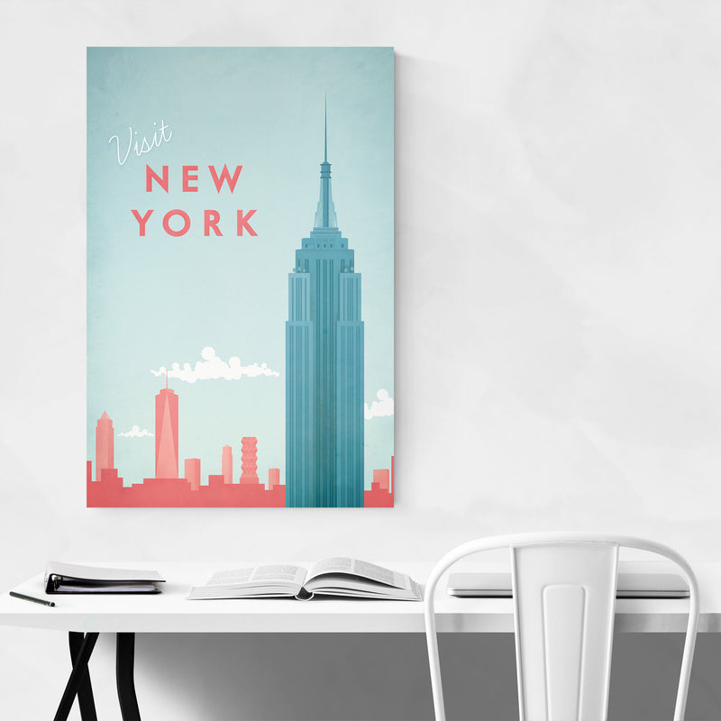 Minimal Travel Poster New York Art Print