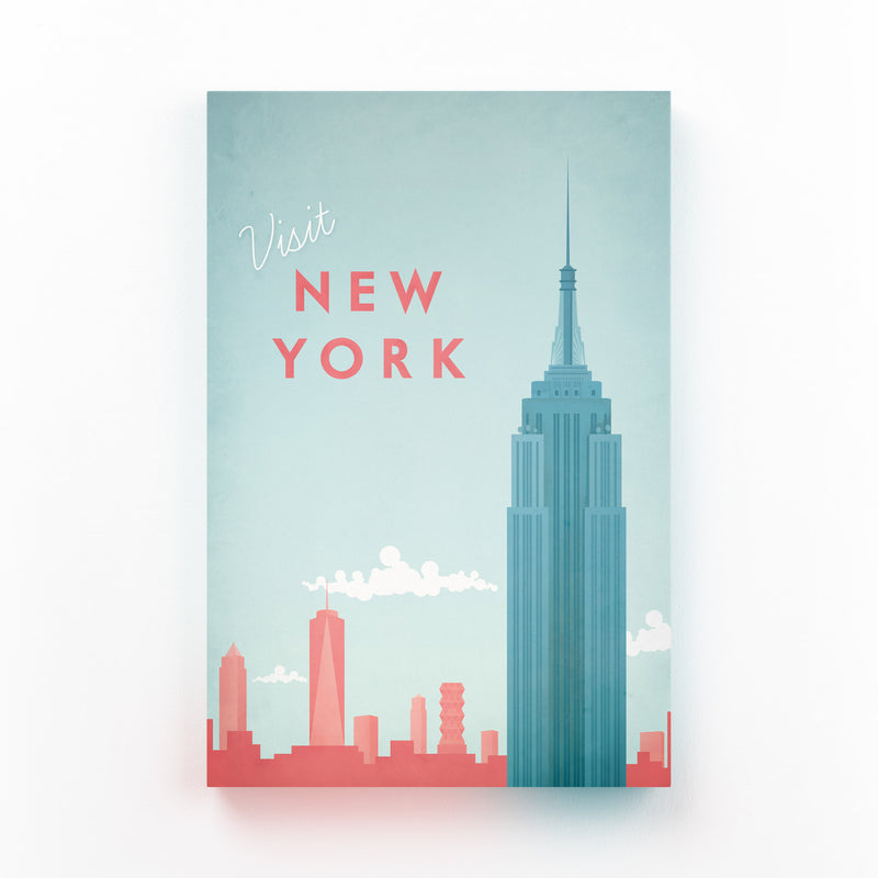 Minimal Travel Poster New York Canvas Art Print