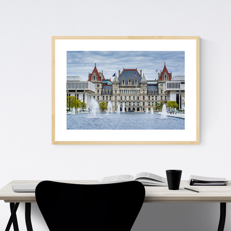 Albany New York State Capitol Framed Art Print