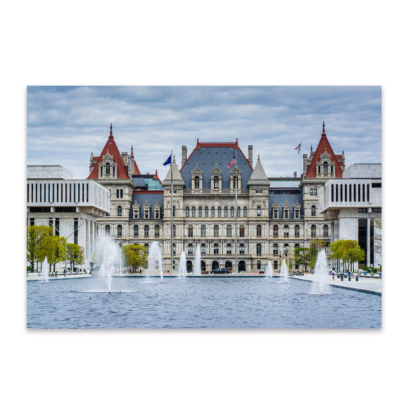 Albany New York State Capitol Metal Art Print