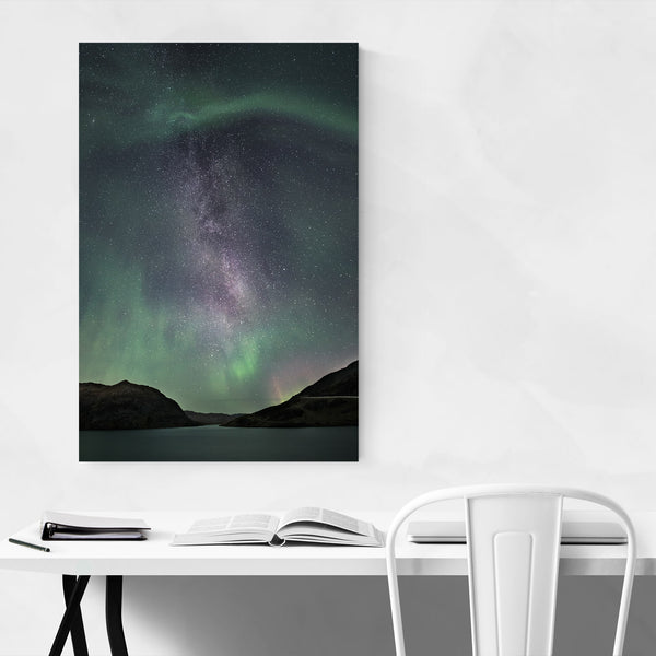 Aurora Borealis Norway Nature Art Print