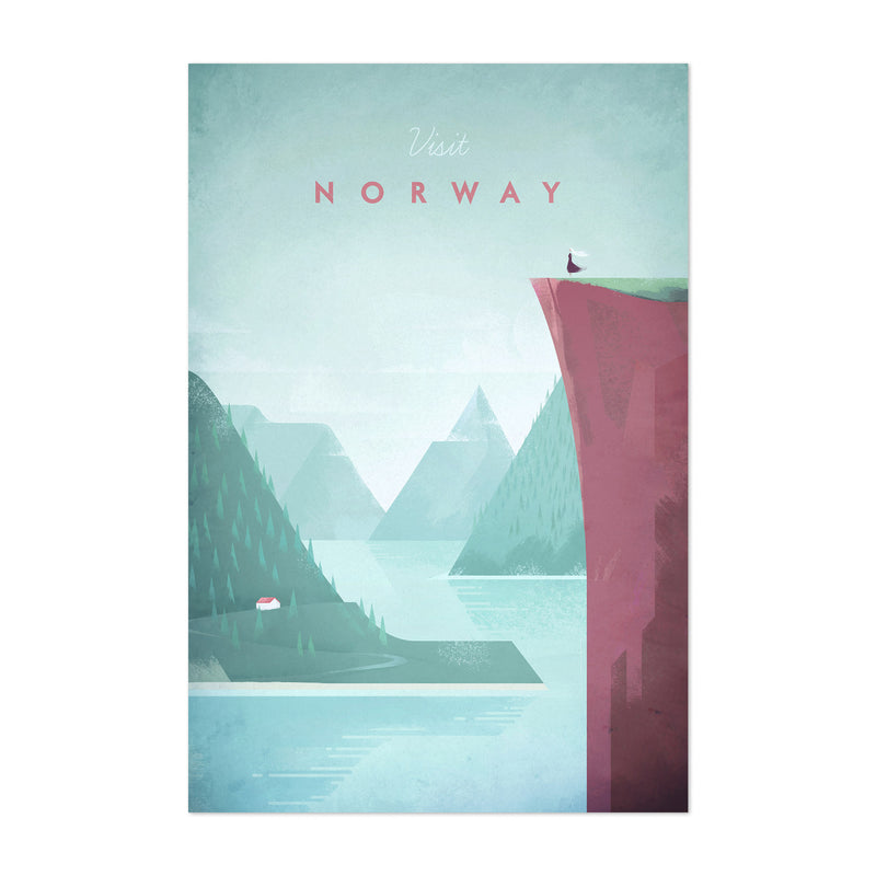 Minimal Travel Poster Norway Art Print