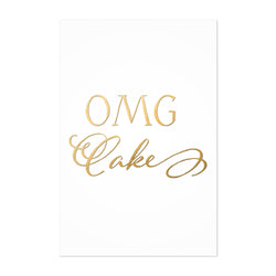 Cake Baking Kitchen Typography Art Print