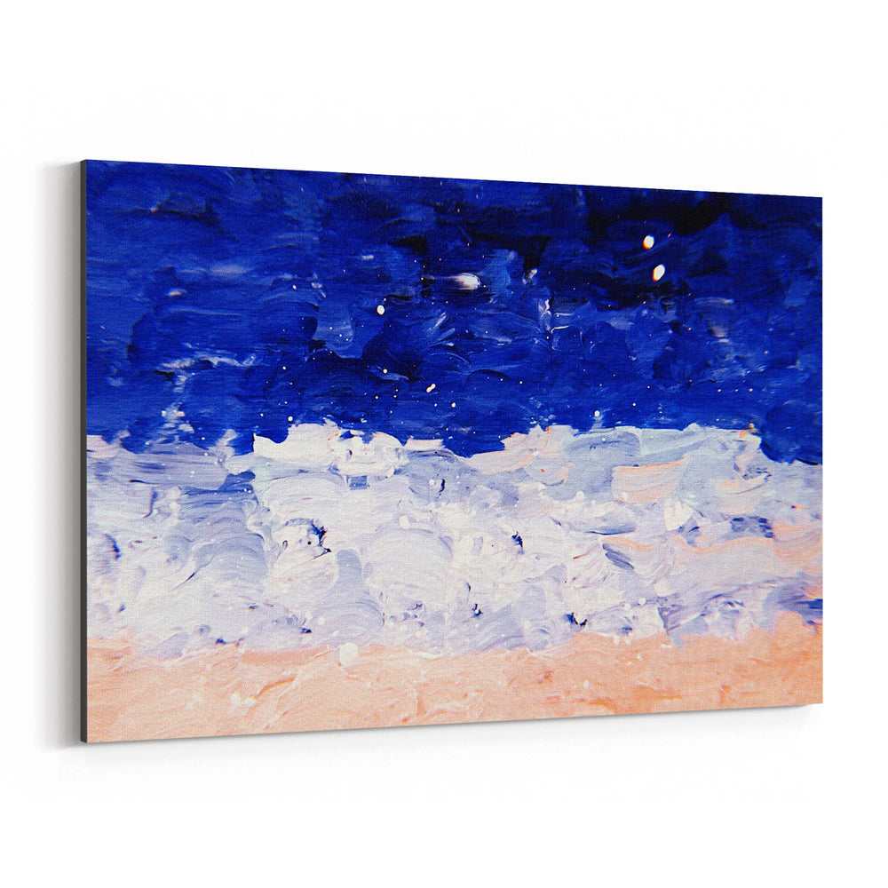 Blue & Pastel Abstract Painting Canvas Art Print