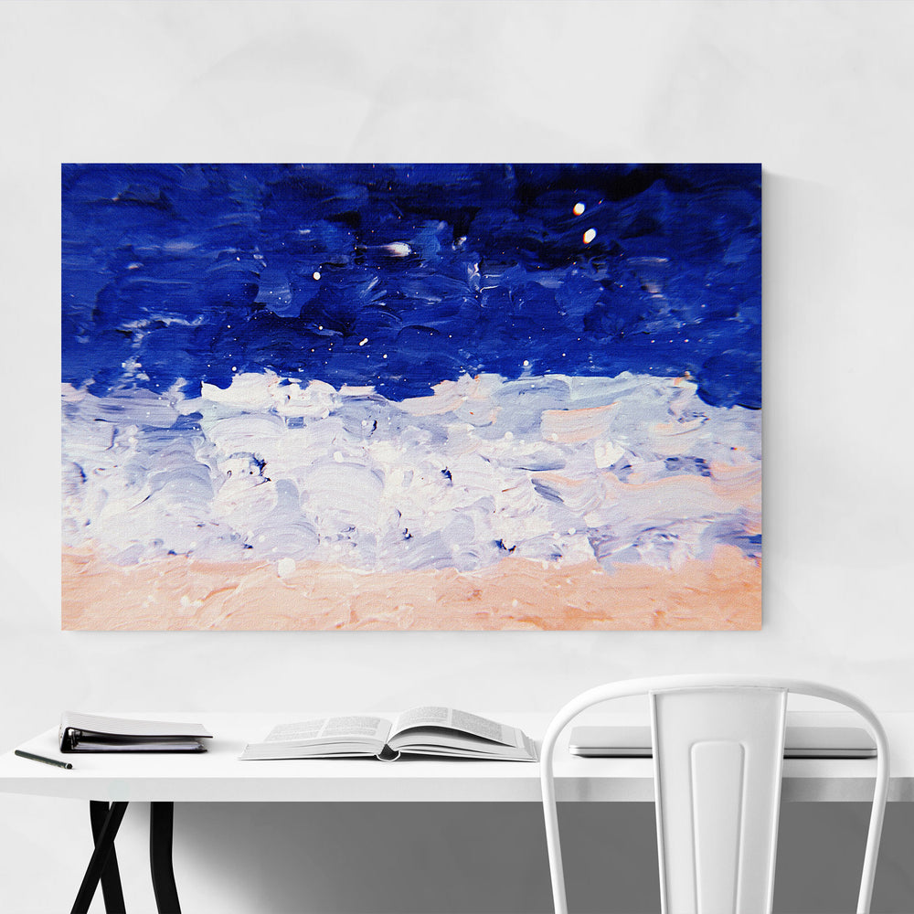 Blue & Pastel Abstract Painting Art Print