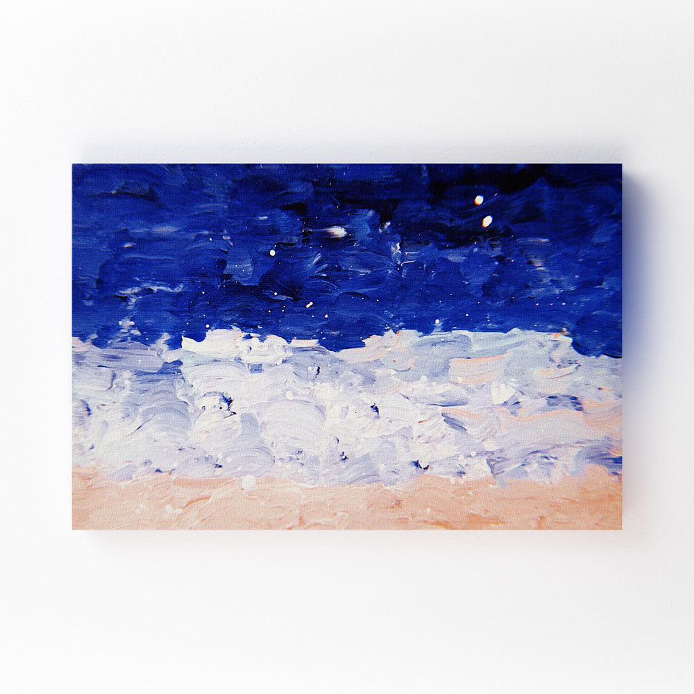 Blue & Pastel Abstract Painting Mounted Art Print