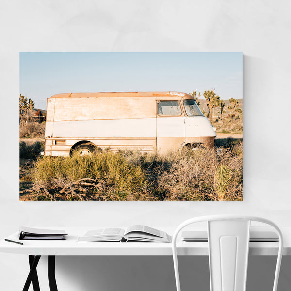 Abandoned Van California Desert Art Print