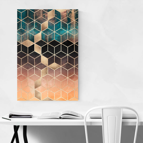Art Deco Digital Geometric Shape Art Print