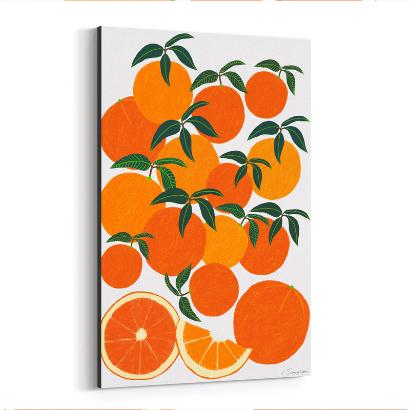 Orange Citrus Fruit Food Kitchen Canvas Art Print