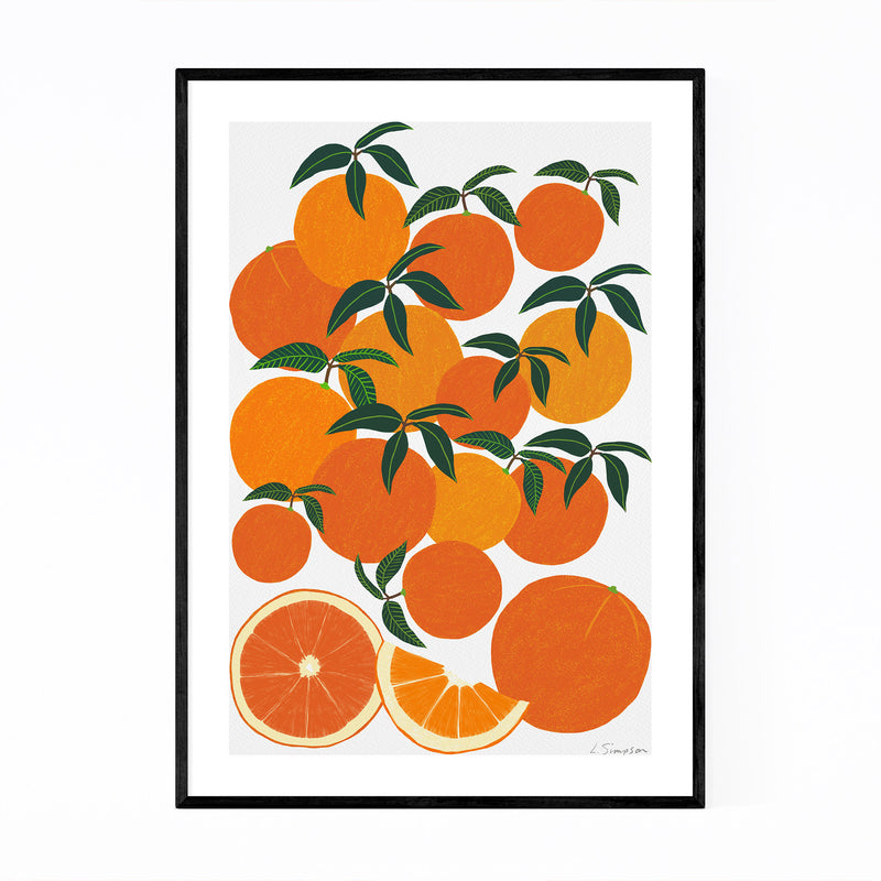 Orange Citrus Fruit Food Kitchen Framed Art Print