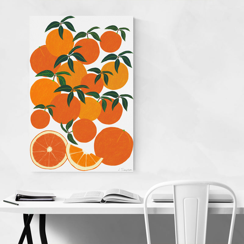 Orange Citrus Fruit Food Kitchen Metal Art Print