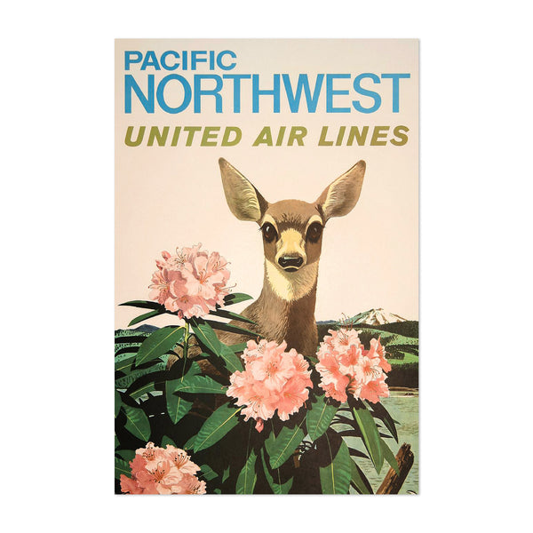 Pacific Northwest Travel Poster Art Print