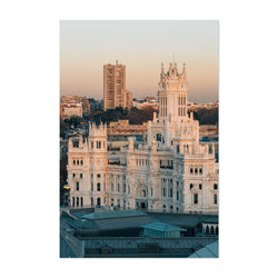 Madrid Spain City Cybele Palace Print Canvas Metal Framed