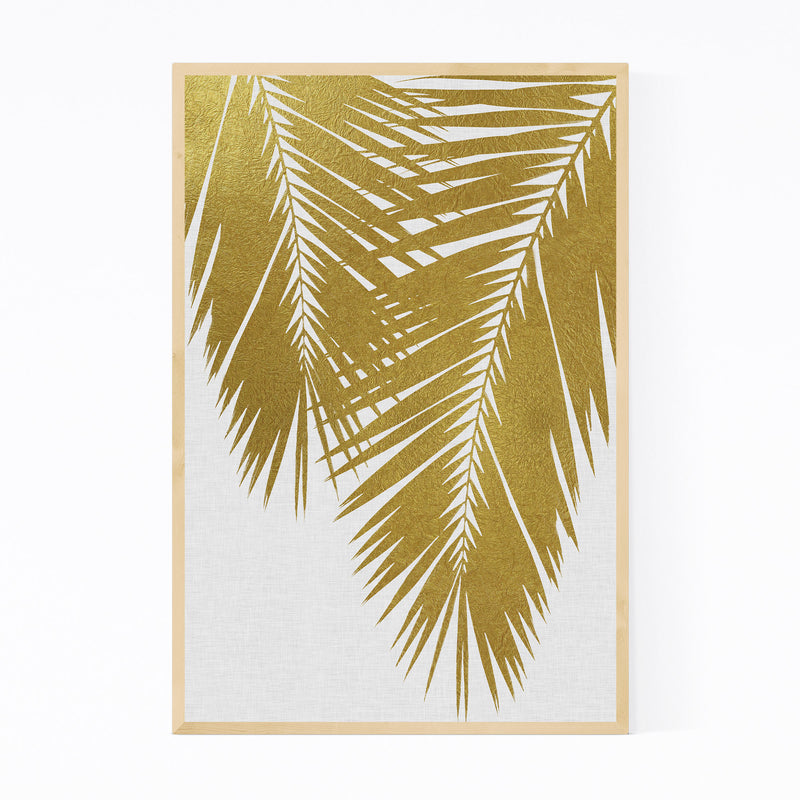 Beach Coastal Palm Tree Leaf Framed Art Print