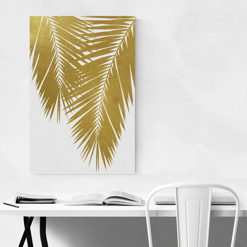 Beach Coastal Palm Tree Leaf Metal Art Print