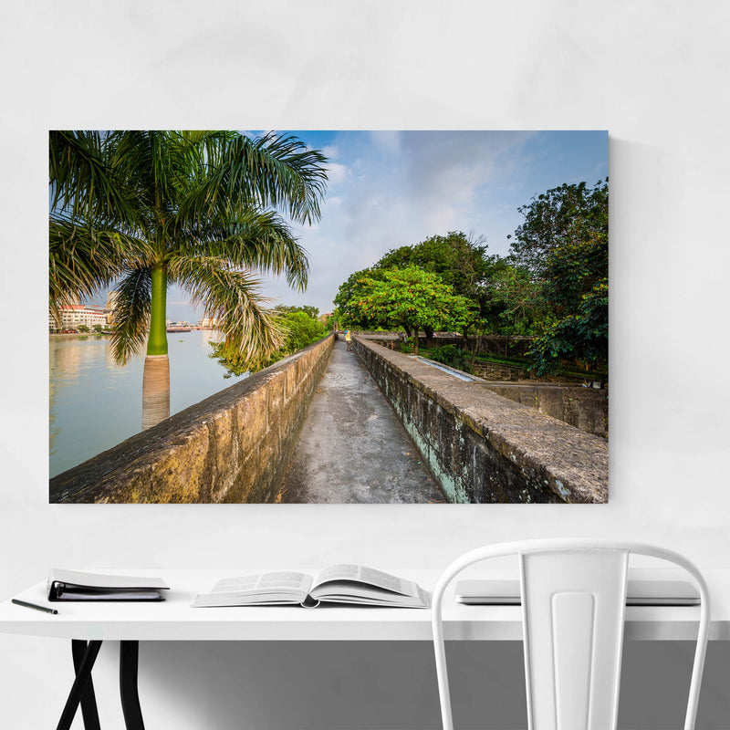 Manila Fort Santiago Palm Trees Art Print