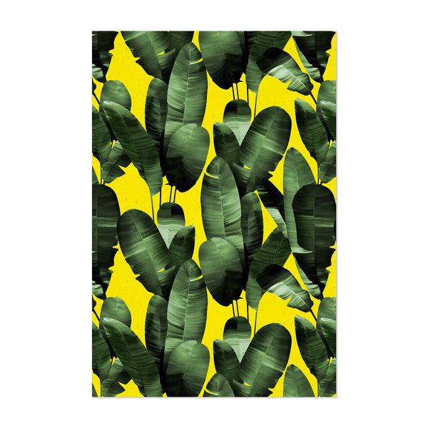 Tropical Floral Banana Leaf Art Print