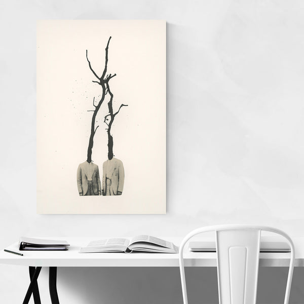 Abstract Trees Vintage Collage Art Print