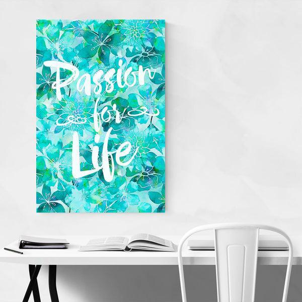 Life Quote Floral Typography Art Print