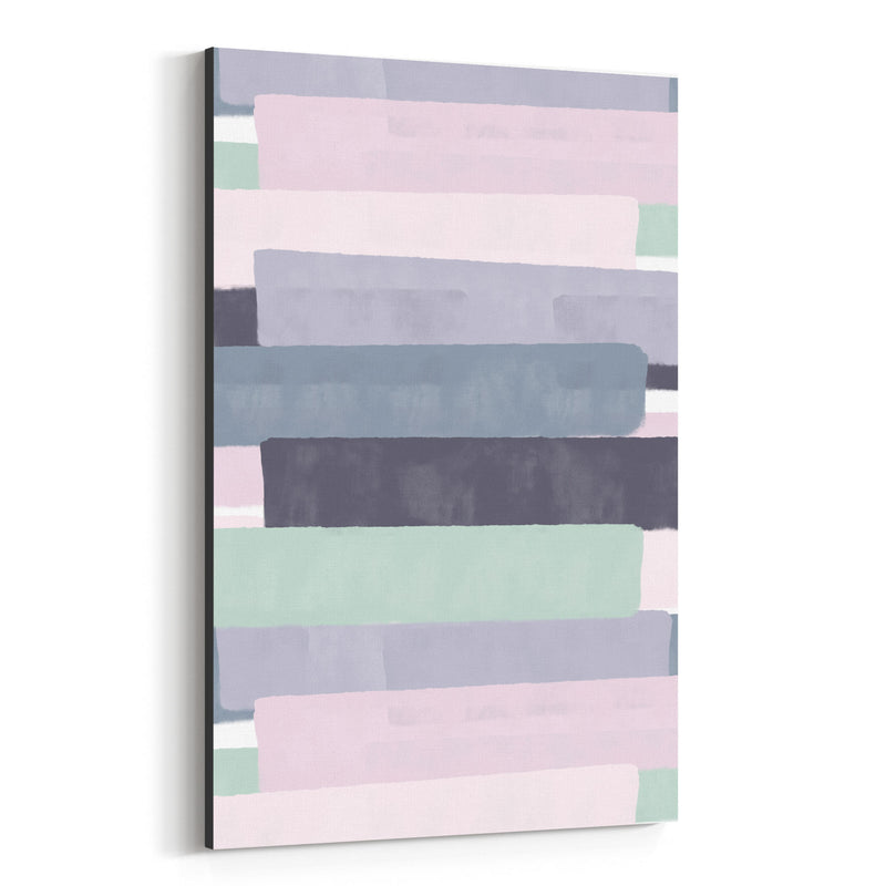 Pink Abstract Pastel Painting Canvas Art Print