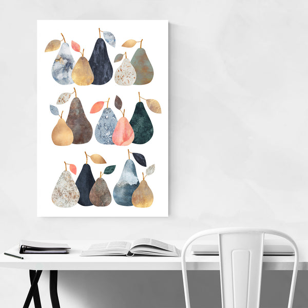 Kitchen Decor Pears Fruit Food Art Print