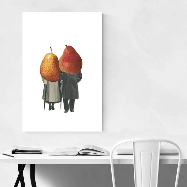 Abstract Kitchen Vintage Pears Art Print