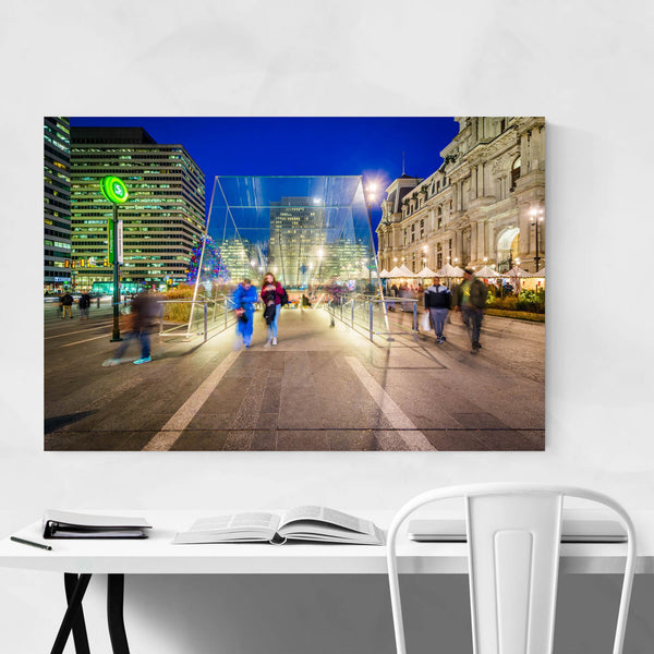Philadelphia Center City Night Art Print
