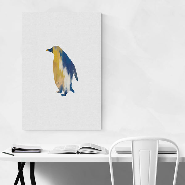 Abstract Penguin Animal Bird Art Print